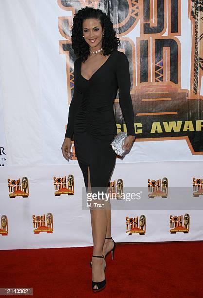 Amy Hunter during 21st Annual Soul Train Music Awards Arrivals at Pasadena Civic Auditorium in Pasadena California United States