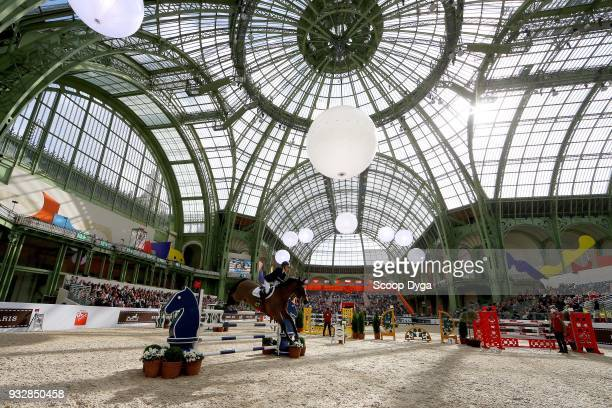 Amy INGLIS riding Every Way competes in the Talents Hermes CSIU25 of Le Saut Hermes 2018 at Grand Palais on March 16 2018 in Paris France