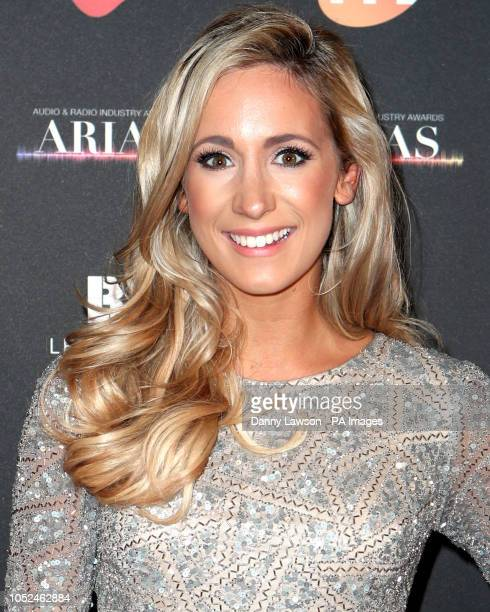 Amy Irons arriving at the The Audio and Radio Industry Awards at the First Direct Arena in Leeds