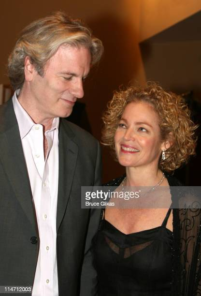 Amy Irving and boyfriend Kenneth Bauser during Shipwreck The Coast of Utopia Part 2 Opening Night Party at Avery Fisher Hall in New York City New...