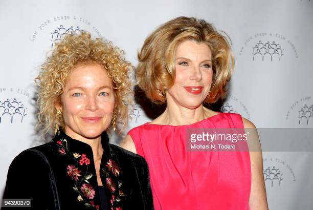 Amy Irving and Christine Baranski attend the New York Stage and Film's annual gala at The Plaza Hotel on December 13 2009 in New York City