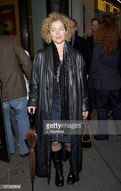 Amy Irving during Opening Night of Roundabout Theatre Company's Broadway Production of Twentieth Century at American Airlines Theatre in New York...