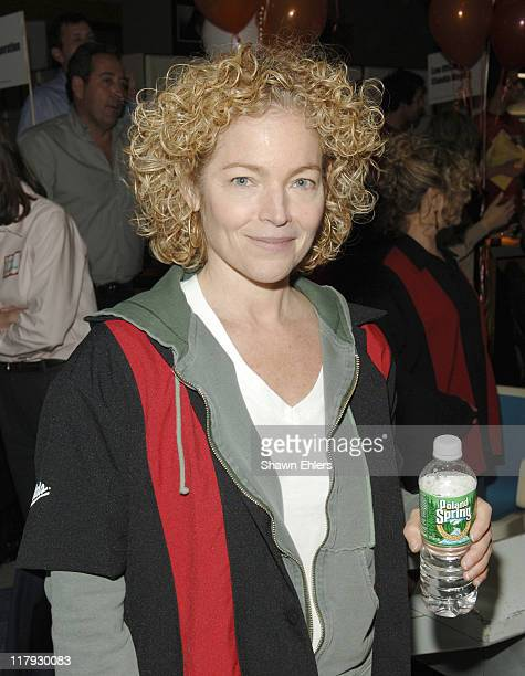 Amy Irving during Second Stage Celebrity Bowling at Leisure Time Bowling Lanes in New York NY United States