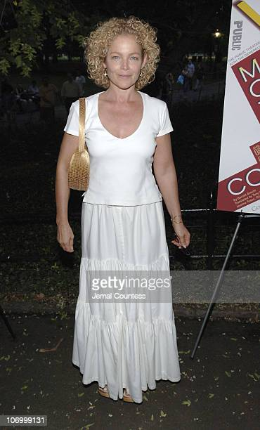 Amy Irving during Shakespeare in the Park Presents Mother Courage and Her Children Opening Night Arrivals at Central Park in New York City New York...
