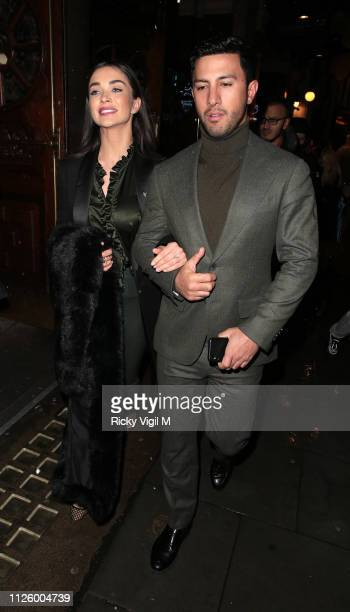 Amy Jackson and George Panayiotou seen attending La Bohème press night at London Coliseum on January 29 2019 in London England