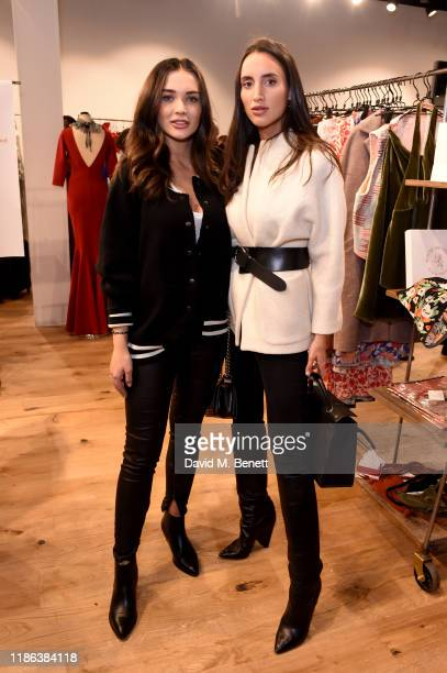 Amy Jackson and Lily Fortescue attend the launch of the Bicester Village Christmas Experience on November 08 2019 in Bicester England