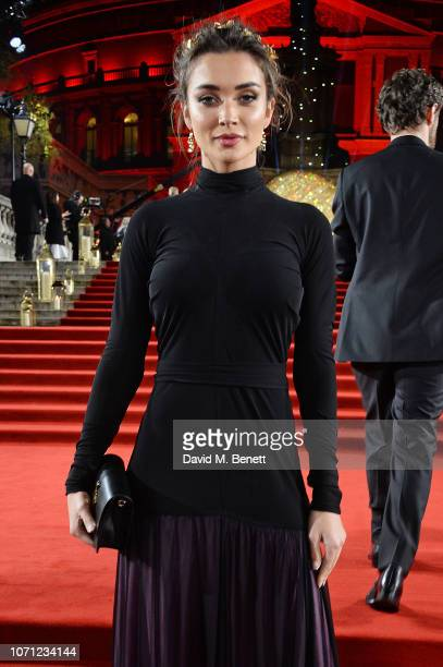 Amy Jackson arrives at The Fashion Awards 2018 in partnership with Swarovski at the Royal Albert Hall on December 10 2018 in London England