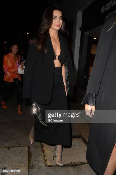 Amy Jackson attends a party at Isabel restaurant in Mayfair on October 12, 2021 in London, England.
