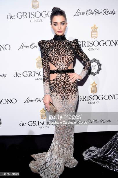 Amy Jackson attends DeGrisogono 'Love On The Rocks' during the 70th annual Cannes Film Festival at Hotel du CapEdenRoc on May 23 2017 in Cap...