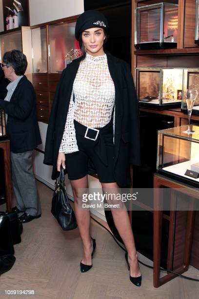 Amy Jackson attends Montblanc celebrates the Holidays with 'What's on your List' Artist David Paul Kay reimagines the facade of Montblanc Boutique on...