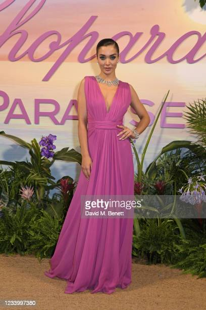 Amy Jackson attends the Chopard Paradise Dinner during the 74th annual Cannes Film Festival on July 15, 2021 in Cannes, France.