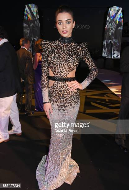 Amy Jackson attends the de Grisogono 'Love On The Rocks' party during the 70th annual Cannes Film Festival at Hotel du CapEdenRoc on May 23 2017 in...