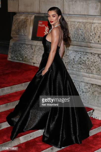Amy Jackson attends the EE British Academy Film Awards at Royal Albert Hall on February 10 2019 in London England