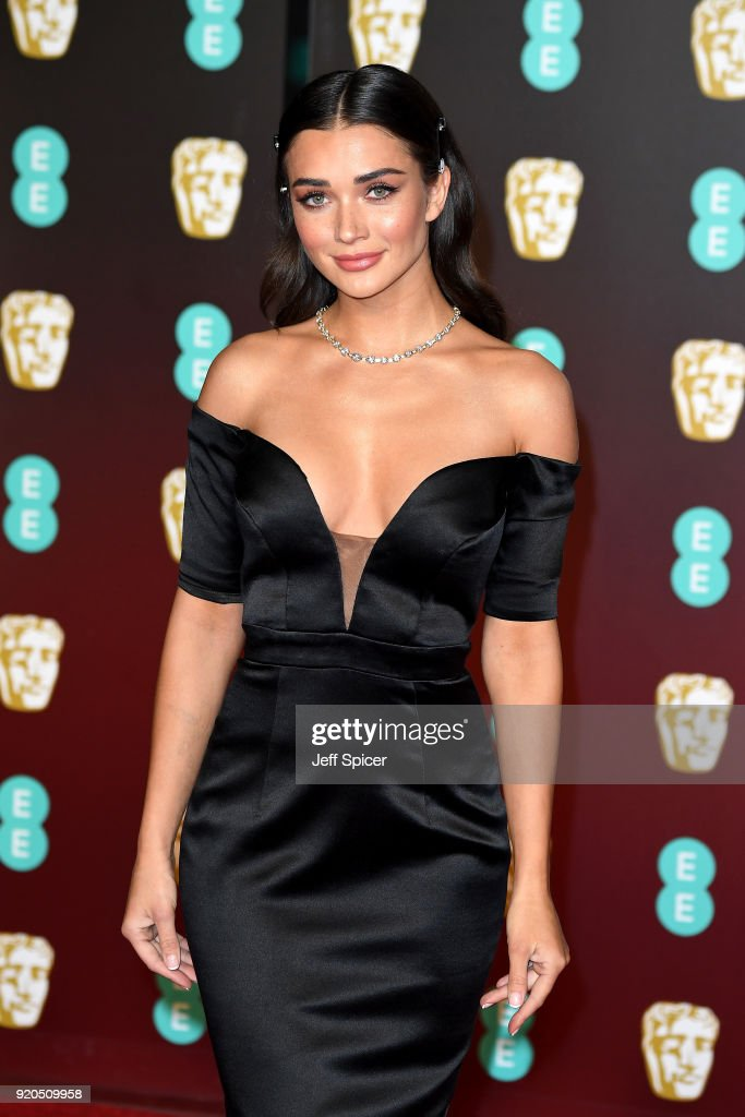 Amy Jackson attends the EE British Academy Film Awards (BAFTA) held at Royal Albert Hall on February 18, 2018 in London, England.