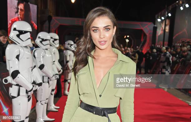 Amy Jackson attends the European Premiere of 'Star Wars The Last Jedi' at the Royal Albert Hall on December 12 2017 in London England