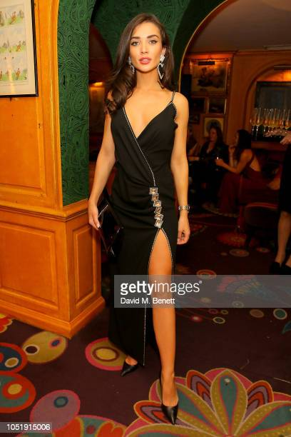 Amy Jackson attends the International Day of the Girl Child Charity Event At The Original Annabel's hosted by The Bardou Foundation at Annabel's on...