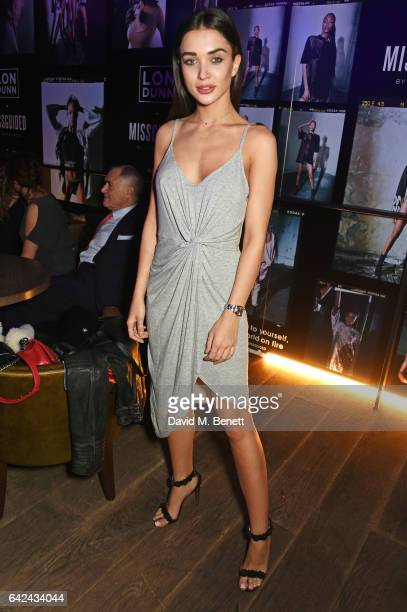 Amy Jackson attends the Lon Dunn Missguided launch event hosted by Jourdan Dunn at The London EDITION on February 17 2017 in London England