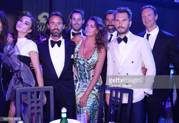 Amy Jackson Jay Rutland Jamie Redknapp Jessica Lemarie Robert Pires Luke Sweeney and guest attend the GQ Men of the Year Awards 2018 in association...