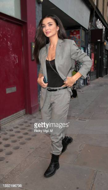 Amy Jackson seen attending Van Gogh: The Immersive Experience - private view at The Old Stable Yard on August 03, 2021 in London, England.