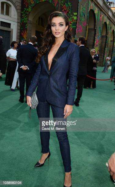 Amy Jackson, wearing LAgence X Isko, attends The Green Carpet Fashion Awards Italia 2018 at Teatro Alla Scala on September 23, 2018 in Milan, Italy.