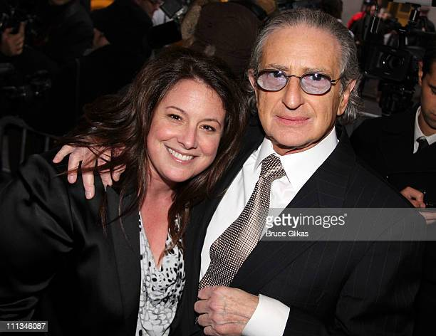 Amy Jacobs and father Sander Jacobs pose at The Opening Night of Bengal Tiger at the Baghdad Zoo on Broadway at Richard Rodgers Theatre on March 31...