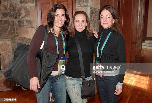 Amy Jo Berman Marlee Matlin and Carrie Frazier at The North Face House *Exclusive Coverage*