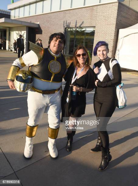 Amy Jo Johnson and fans attend the 3rd Annual Bentonville Film Festival on May 4 2017 in Bentonville Arkansas