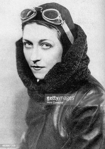 Amy Johnson British aviator c1920sc1930s Johnson created a new record for a solo flight from London to Cape Town completing the trip in 4 days 6...
