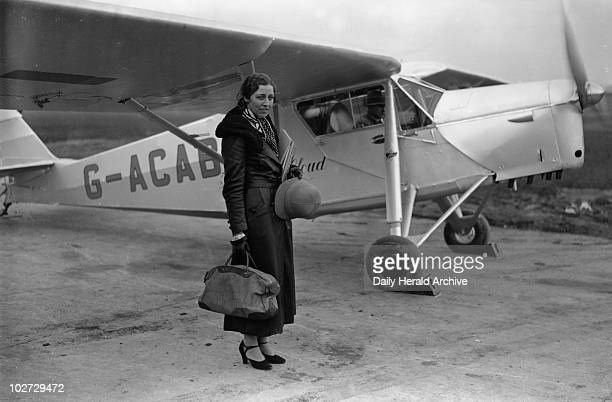 Amy Johnson English aviator 8 November 1932 In 1930 Johnson became the first woman to fly solo from Britain to Australia Johnson in her flying suit...