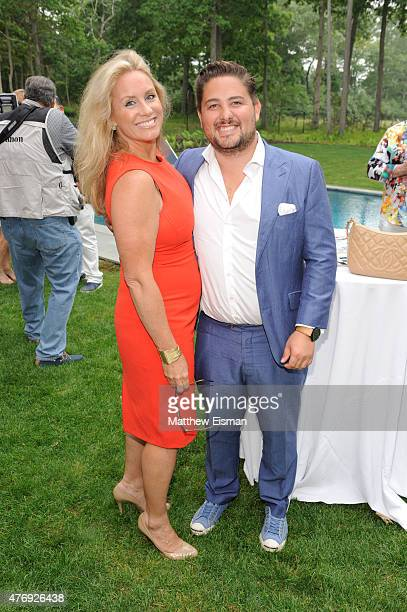 Amy Kaufman and Aaron Kaufman attend as Hamptons Magazine celebrates cover stars Sean Avery and Hilary Rhoda at Barn Vine on June 12 2015 in...