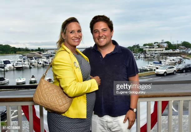 Amy Kaufman and Aaron Kaufman attend the Hamptons Magazine Celebration with Cover Star Karolina Kurkova on July 13 2017 in Sag Harbor New York
