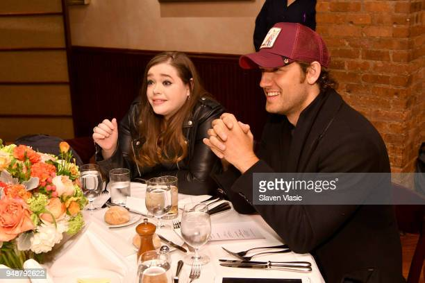 Amy Kaufman and Alex Pettyfer attend the Jury Welcome Lunch 2018 Tribeca Film Festival at Tribeca Grill Loft on April 19 2018 in New York City