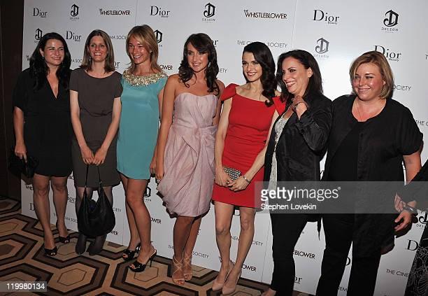Amy Kaufman Celine Rattray Anna Anissimova Rachel Weisz and Larysa Kondracki attend a screening of The Whistleblower hosted by the Cinema Society...