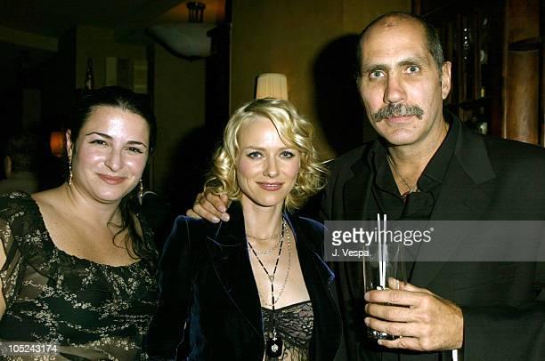 Amy Kaufman Naomi Watts and Guillermo Arriaga during 2003 Toronto International Film Festival 21 Grams Cocktail Party in Toronto Ontario Canada