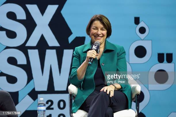 Amy Klobuchar speaks onstage at Conversations About America's Future Senator Amy Klobuchar during the 2019 SXSW Conference and Festivals at Austin...
