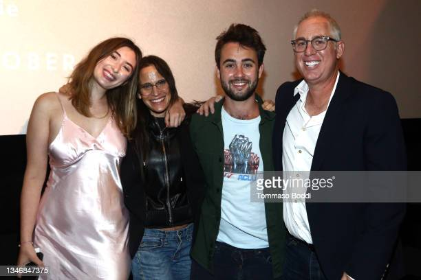 """Amy Koppelman and family attend the """"A Mouthful Of Air"""" Q&A with Amanda Seyfried, cast and filmmakers at AMC Century City 15 on October 15, 2021 in..."""