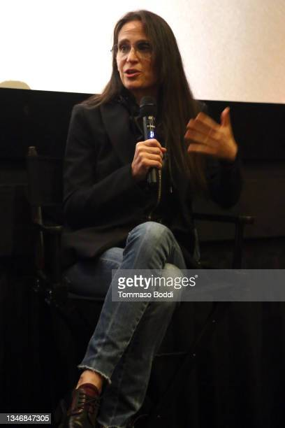 """Amy Koppelman attends the """"A Mouthful Of Air"""" Q&A with Amanda Seyfried, cast and filmmakers at AMC Century City 15 on October 15, 2021 in Century..."""