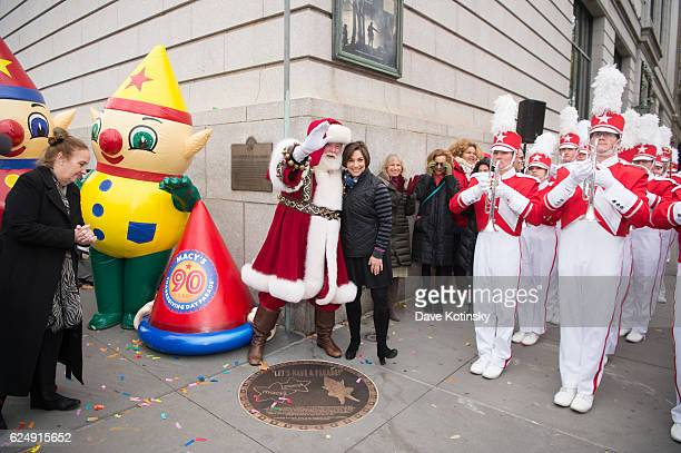 Amy Kule at the Macy's Unveiling of the Starting Line Plaque On The Upper West Side Of New York City To Commemorate The 90th Macy's Thanksgiving Day...