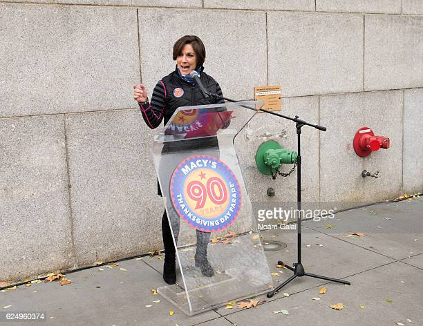Amy Kule attends the unveiling of the 90th Macy's Thanksgiving day parade plaque on November 21 2016 in New York City