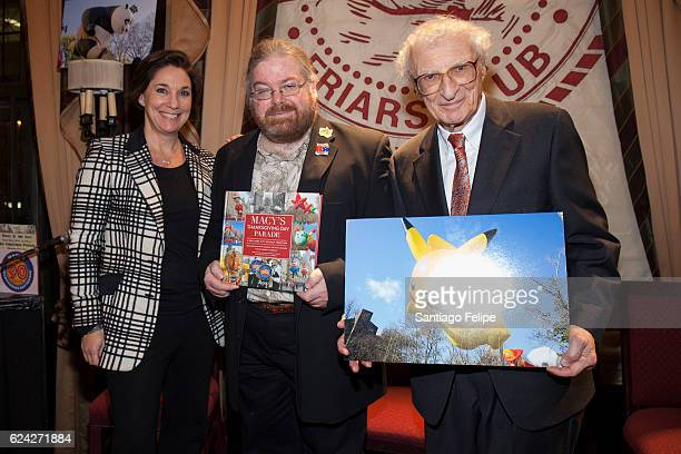 Amy Kule Matthew Harnick and Sheldon Harnick attend Macy's Thanksgiving Day Parade A New York City Holiday Tradition at The Friars Club on November...