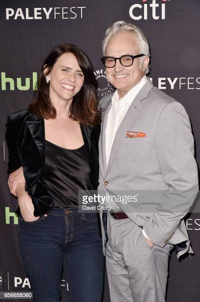 Amy Landecker and Bradley Whitford attend PaleyFest Los Angeles 2017 'An Evening Of Laughs with James Corden and The Late Late Show' at Dolby Theatre...