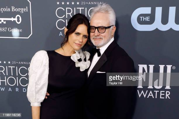 Amy Landecker and Bradley Whitford attend the 25th Annual Critics' Choice Awards at Barker Hangar on January 12 2020 in Santa Monica California
