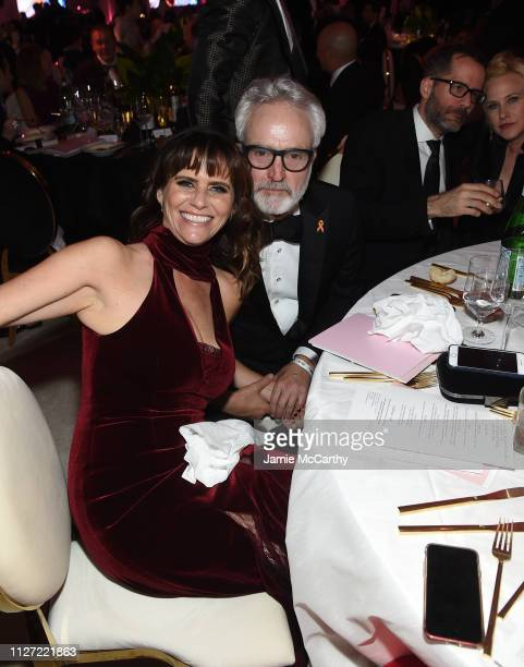 Amy Landecker and Bradley Whitford attend the 27th annual Elton John AIDS Foundation Academy Awards Viewing Party sponsored by IMDb and Neuro Drinks...