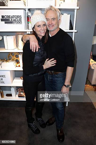 Amy Landecker and Bradley Whitford attend the Creators League Studio At 2017 Sundance Film Festival Day 5 at PepsiCo's Creators League Studio at the...