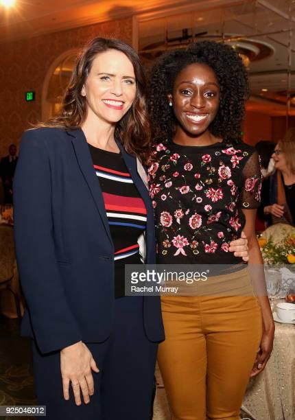 Amy Landecker and Corinne Gilliard attend EMILY's List's Resist Run Win PreOscars Brunch on February 27 2018 in Los Angeles California