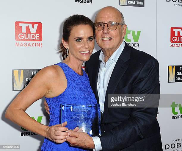 Amy Landecker and Jeffery Tambor arrive at the Television Industry Advocacy Awards benefitting The Creative Coalition hosted by TV Guide Magazine and...