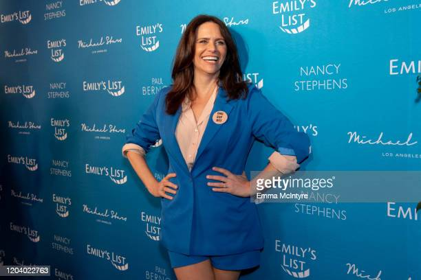 Amy Landecker arrives at Emily's List 3rd annual pre-oscars event at Four Seasons Hotel Los Angeles at Beverly Hills on February 04, 2020 in Los...