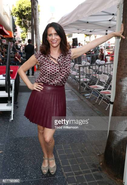 Amy Landecker at the ceremony honoring Jeffrey Tambor with a star on the Hollywood Walk of Fame on August 8 2017 in Hollywood California