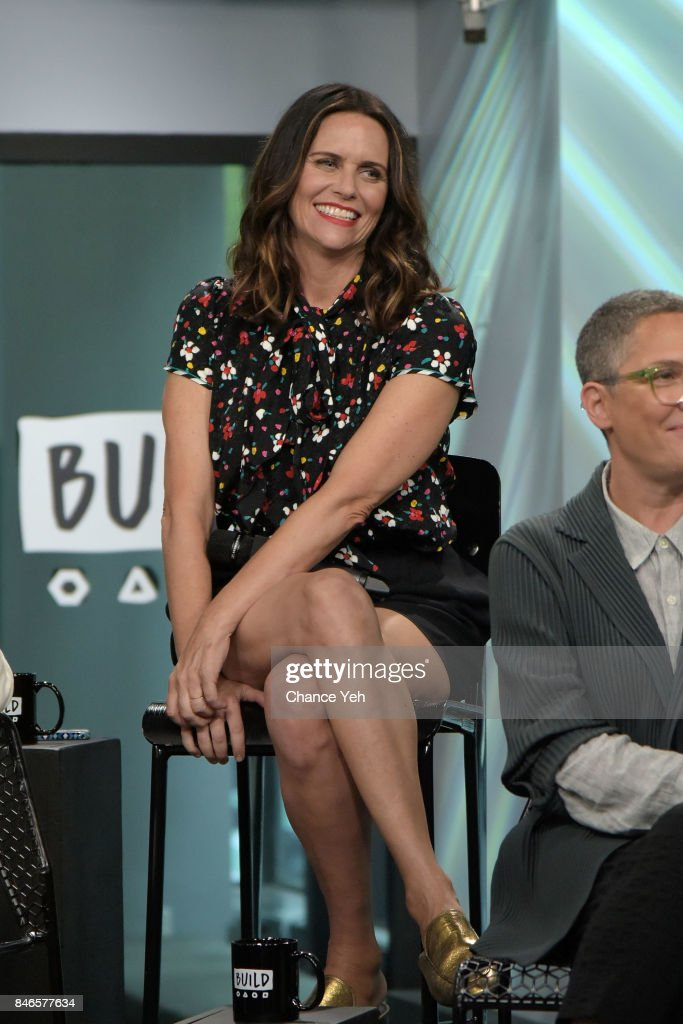 Amy Landecker attends Build series to discuss 'Transparent' at Build Studio on September 13, 2017 in New York City.