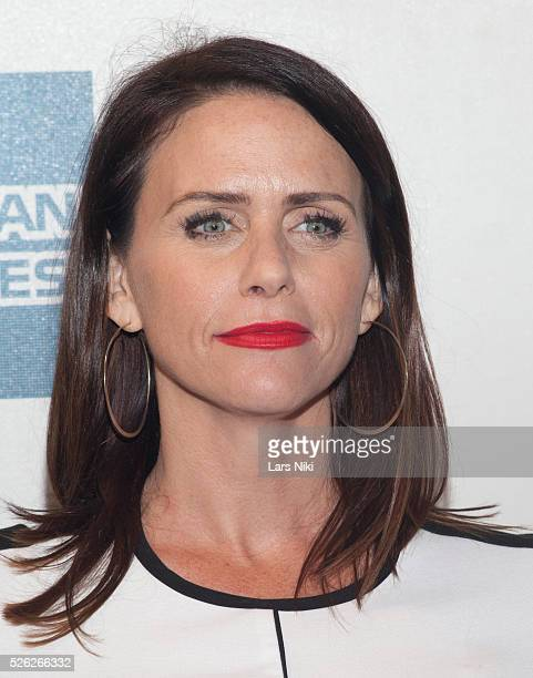 Amy Landecker attends the Almost Christmas film premiere during the Tribeca Film Festival at BMCC in New York City �� LAN